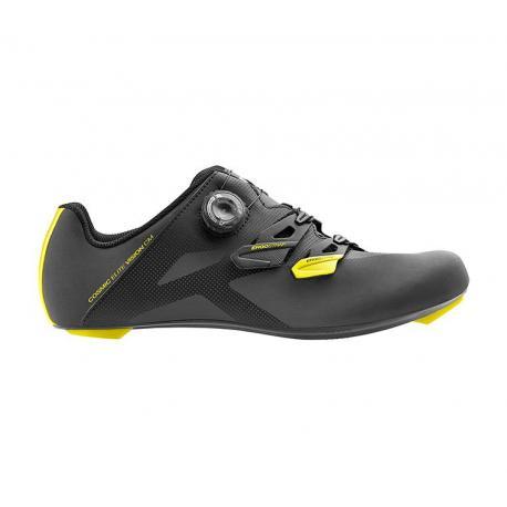 Chaussures MAVIC route Cosmic Elite Vision gris réfléchissant décor jaune