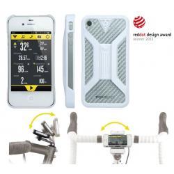 Etui téléphone TOPEAK support iPhone 4/4S RideCase blanc