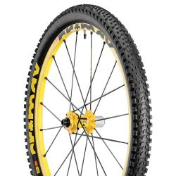 Roue à pneu 26p MAVIC 2015 vtt Crossmax Enduro WTS Disc arrière jaune décor noir
