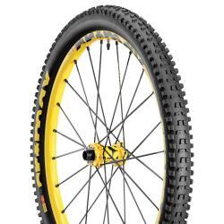 Roue à pneu 26p MAVIC 2015 vtt Crossmax Enduro WTS Disc avant jaune décor noir