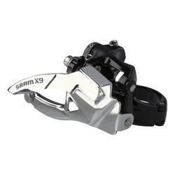 Dérailleur avant SRAM vtt 10v X-9 Double noir - Fixation Directe Basse S3 entraxe 23mm 39 dts - tirage bas - 121gr - ppc