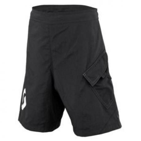 Short avec cuissard amovible SCOTT enfant Junior Trail noir décor blanc