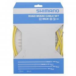 Cables+Gaine SHIMANO frein route PTFE Jaune avant et arrière