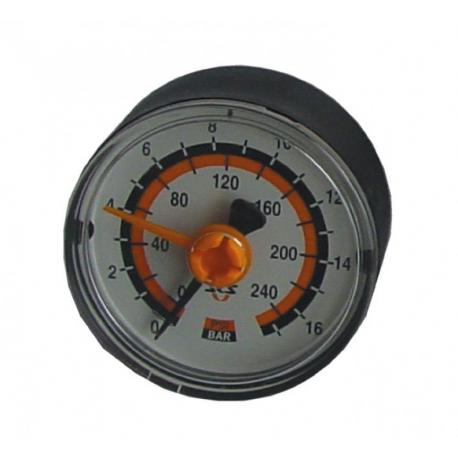 Manomètre nu SKS pompe à pied Renkompressor 3037 - lecture maxi 16 bars - 240 psi - PRATIQUE.