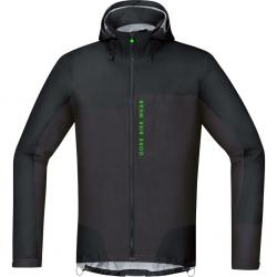 Veste imperméable GORE BIKE Power Trail GoreTex Active Shell marron décor noir