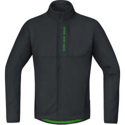 Veste thermique GORE BIKE hiver Power Trail Windstopper SoftShell Thermo noir