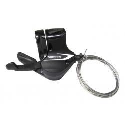 Manette de dérailleur SHIMANO vtt 8v Acera M360 Droite noire - avec cadran de vitesses - avec cable - DROITE.