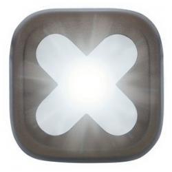 Feu avant KNOG Blinder-1 Cross anthracite - 1 led blanc 20 lumens - 100% étanche - 4 modes - autonomie flash 11h - visible