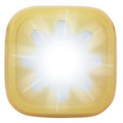 Feu avant KNOG Blinder-1 Cog or - 1 led blanc 20 lumens - 100% étanche - 4 modes - autonomie flash 11h - visible à 600m -