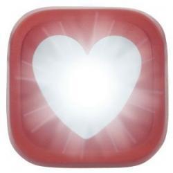 Feu avant KNOG Blinder-1 Heart rouge - 1 led blanc 20 lumens - 100% étanche - 4 modes - autonomie flash 11h - visible à
