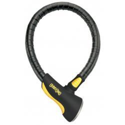 Antivol ONGUARD cable Rottweiler 8023L à clef - cylindres articulés en acier traité dur - long 2m20 x Diam 30mm -