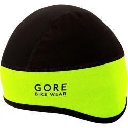 Bonnet sous-casque GORE BIKE hiver Helmet Windstopper néon jaune fluo décor noir