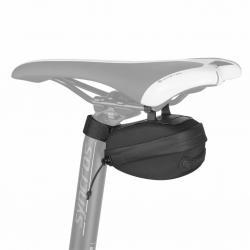 Sacoche de selle SYNCROS Turtle 380 noire - 420D+210D - fixation à clip sur fil de selle + velcro sur tige - L11cm H6cm larg