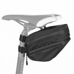 Sacoche de selle SYNCROS HiVol 1260 noire - 420D+210D - fixation à clip sur fil de selle + velcros sur tige - L21cm H12cm