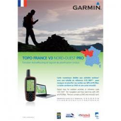 Cartographie GARMIN vtt Topo V3 Pro France Nord-Ouest au 1/25.000 pour GPS Garmin