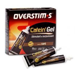 Gel de l'effort OVERSTIM'S Cafein'gel - 29 gr - café - stimulant et surpuissant pour efforts intenses - la boîte de 10