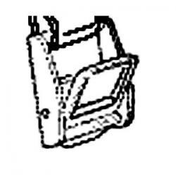 Boucle de serrage sangle PERUZZO métalique fixée sur porte-vélo Vénézia 1ère génération - PAIRE.