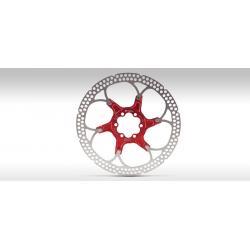 Disque de frein FORMULA acier inox étoile alu noire MY12 - 6 trous - 109gr - ppc 79.90 €ttc - diamètre 180mm.