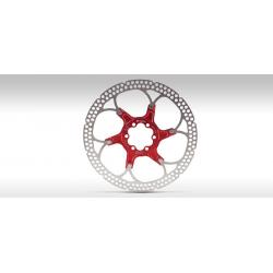 Disque de frein FORMULA acier inox étoile alu rouge