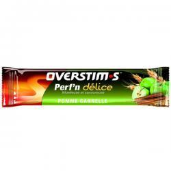 Barre OVERSTIM'S énergétique - Perf'n Délice - 34 gr - moelleuse et savoureuse - céréales pomme cannelle strudel - LA