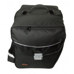 Sacoche HABERLAND arrière double cavalière Touring 6000 rigide noir sur porte-bagage