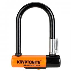 Antivol KRYPTONITE U Evolution Mini 5 à clef orange et noir