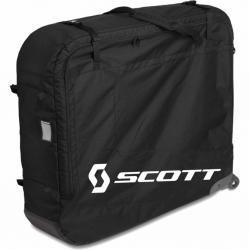 Housse de transport vélo SCOTT rembourrée Premium polyester 600D 64T noir - à roulettes - chassis int. de fixation vélo -