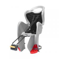 Porte-bébé BELLELI arrière sur cadre MrFox Standart argent - avec repose-pieds réglables et coussins de confort - maxi