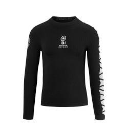 Sous-vêtement ASSOS hiver LS.skinFoil earlyWinter Evo7 noir décor blanc