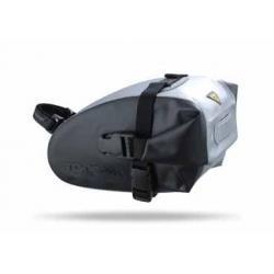 Sacoche TOPEAK de selle étanche Wedge DryBag Médium - fixation à clip F11 sur fil de selle - 1 Litre - 170gr - PRATIQUE.