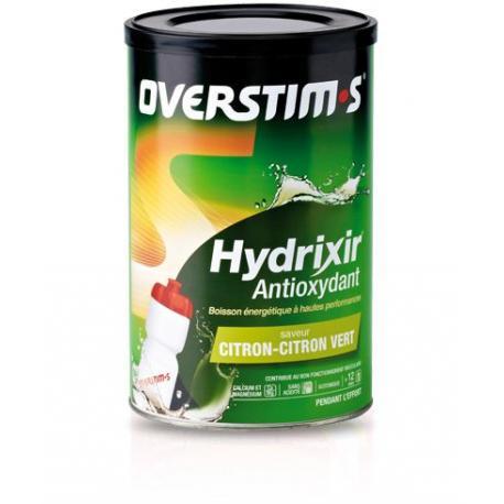 Boisson OVERSTIM'S de l'effort - 600 gr - Hydrixir Antioxydant Menthe-Eucalyptus - sans acidité - POT.