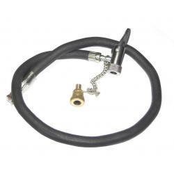 Raccord flexible VELO tuyau caoutchouc de gonflage Cloche Schraeder avec embout valve Presta à chainette