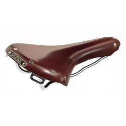 Selle BROOKS cuir route Swallow Classic B354 marron - rails acier chromé - 285x153x62mm - 485gr - ppc 165 €ttc -