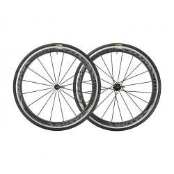 Roues à pneu 700 MAVIC route Cosmic Pro Carbon 25 noire décor gris