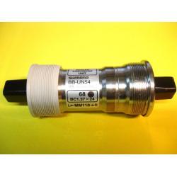 Boitier pédalier SHIMANO axe carré UN55 - BSC - larg. 73mm - long.107mm.