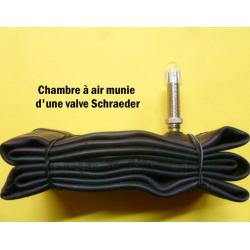 Chambre à air SCHWALBE vélo Standart butyl noire - Valve Schraeder - N°9A - 24x1 - 600x25 - 600.
