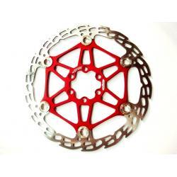 Disque de frein HOPE acier inox Saw (dent de scie) étoile alu 6 trous - rouge - 170gr - ppc 62.90 €ttc - 200mm