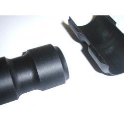 Réducteur VELO polyamide-fibre de verre noir vtt ou route potence 31.8mm sur cintre 25.4mm - largeur 45mm - 13gr - KIT /