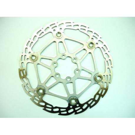 Disque de frein HOPE acier inox Saw (dent de scie) étoile alu 6 trous - argent - 171gr - ppc 58€ttc - 203 mm