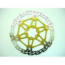 Disque de frein HOPE Saw (dent de scie) MM 2/4 étoile alu (floating disc) - 6 trous - or - 146gr - ppc 51€ttc - 180 mm