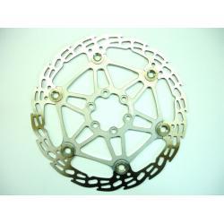 Disque de frein HOPE Saw (dent de scie) MM 2/4 étoile alu (floating disc) - 6 trous - argent - 093gr - ppc 51€ttc - 160 mm
