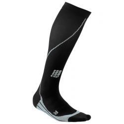 Chaussettes de compression CEP Run Socks homme Running noir et gris
