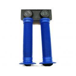 Poignées de guidon ODI Longneck St - 143 mm - coloris bleu - PAIRE.