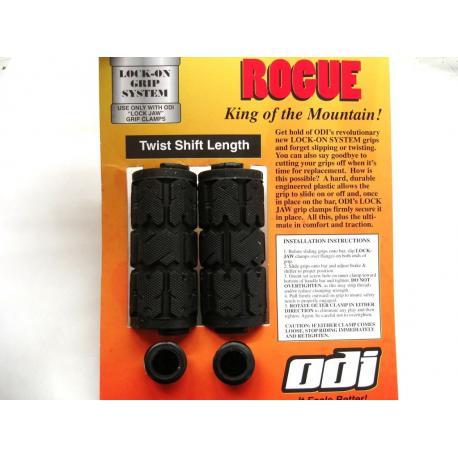 Poignées de guidon ODI Rogue Shift - 90 mm - coloris noir - PAIRE.