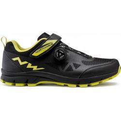 Chaussures NORTHWAVE vtt Corsair noir décor jaune fluo