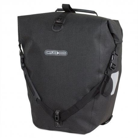 Sacoche ORTLIEB arrière latérale Back-Roller High Visibility F5505 noire