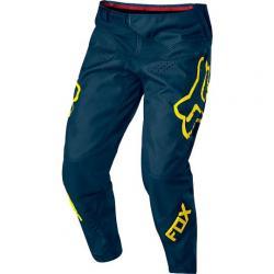 Pantalon bmx et vtt FOX enfant Youth Demo bleu pétrole décor jaune