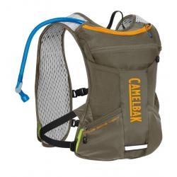 Sac hydratation CAMELBAK route ou vtt Chase Bike vert kaki décor orange