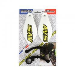 Protège mains AVS Basic blanc décor jaune et noir