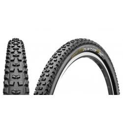 Pneu 26p CONTINENTAL vtt MountainKing Protection 26 Tubeless Ready noir flancs noirs
